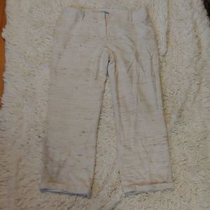 Silk cropped pants